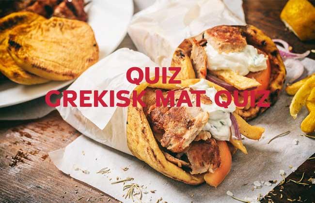 Grekisk Mat Quiz